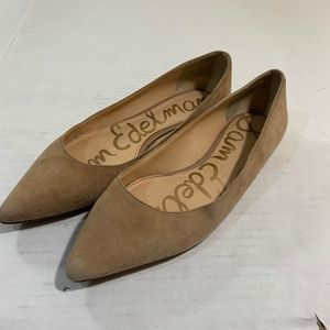 Sam Edelman Suede Pointed Toe Flats Shoes 7.5 W